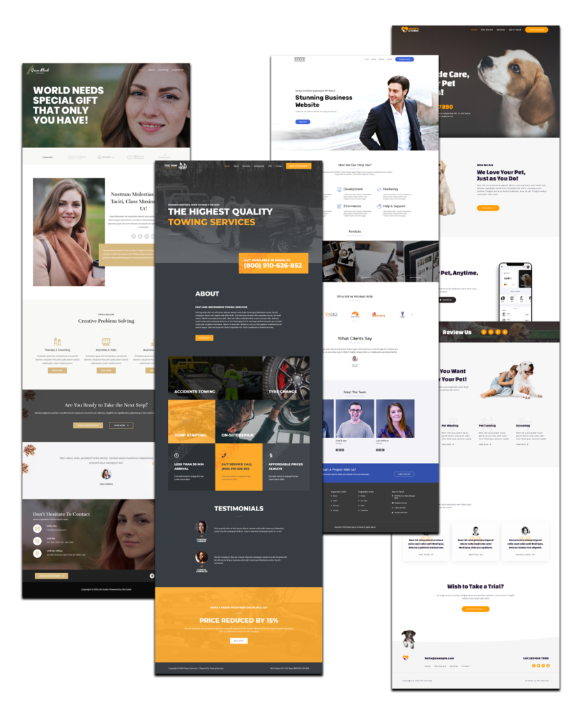turnkey website solution pick from 100+ designs